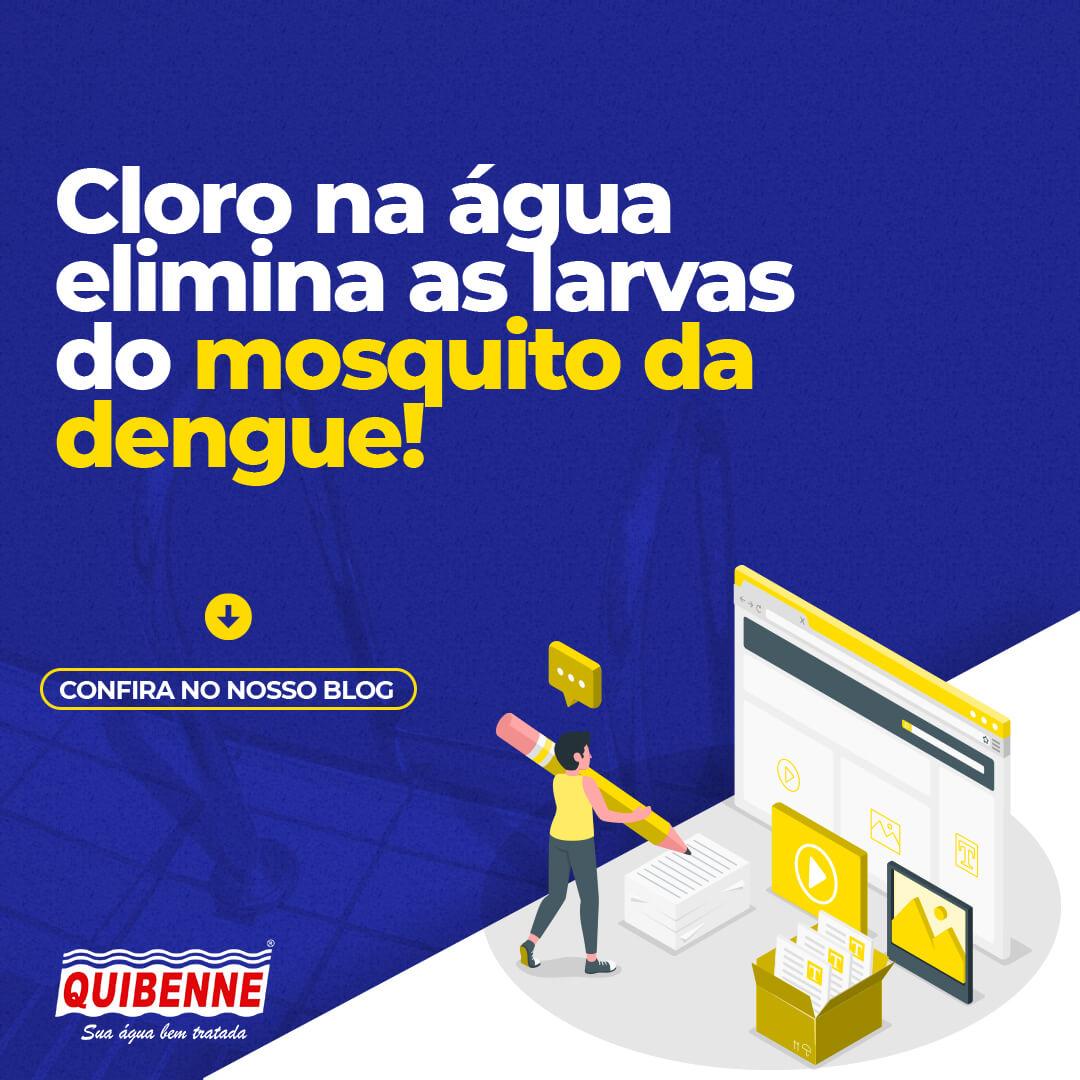 Cloro na água elimina as larvas do mosquito da dengue